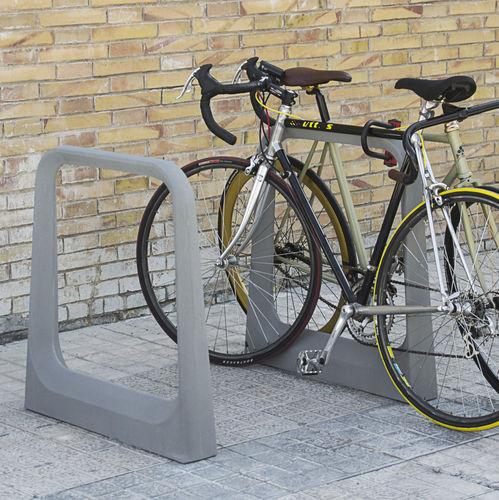 aparcabicis de hormigón reforzado con fibra / de diseño original / para espacio público