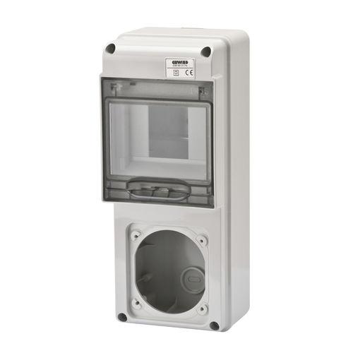 caja eléctrica montada en superficie / para tomas de corriente