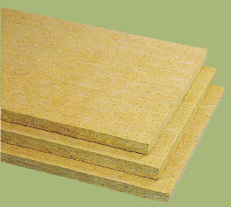 aislante termoacústico / de lana de roca / para aislamiento térmico exterior SATE / para fachada