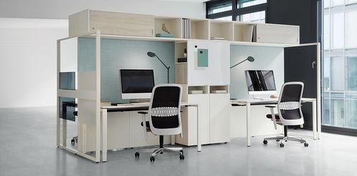 Escritorio para open space / de aluminio / de melamina / moderno FRAME_S by Christian Horner Bene GmbH