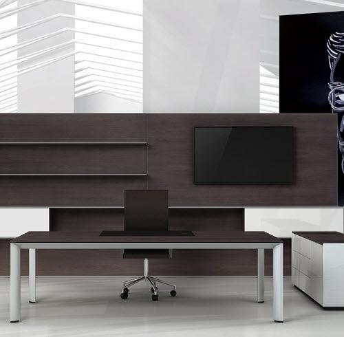 escritorio de director / de madera / de aluminio / moderno