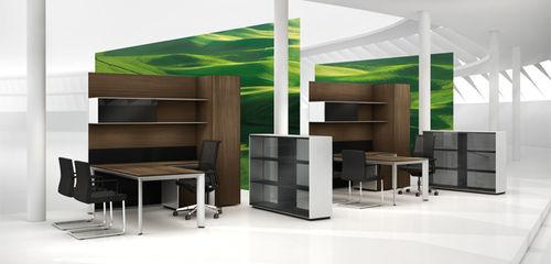 Escritorio para open space / de director / de madera / de aluminio AL by Kai Stania Bene GmbH