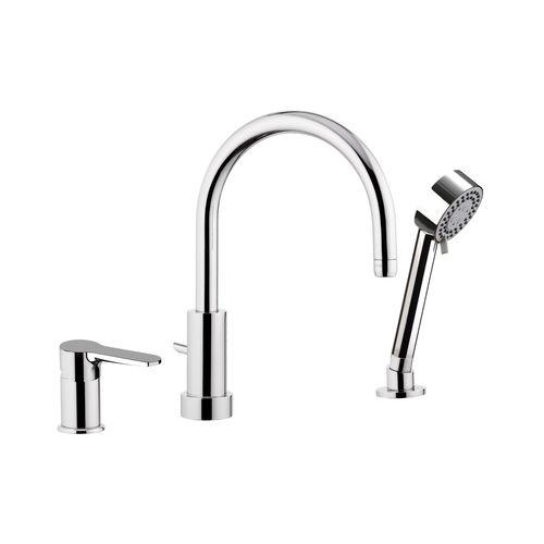 grifo monomando para bañera / empotrable / de metal cromado / de latón cromado
