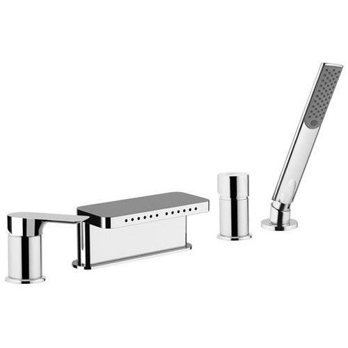 grifo monomando para ducha / para bañera / encastrable / de metal cromado
