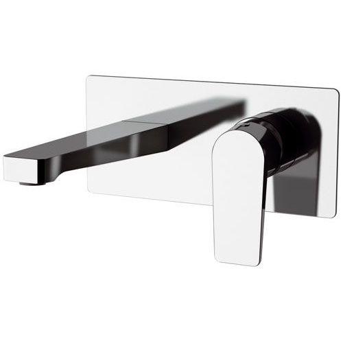 grifo monomando para lavabo / de pared / encastrable / de latón cromado