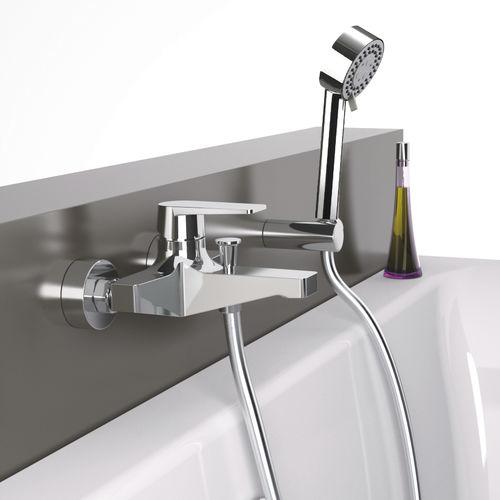 grifo monomando para bañera / para ducha / de pared / de metal cromado