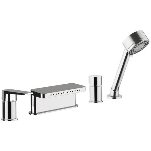 grifo monomando para bañera / encastrable / de metal cromado / de latón cromado