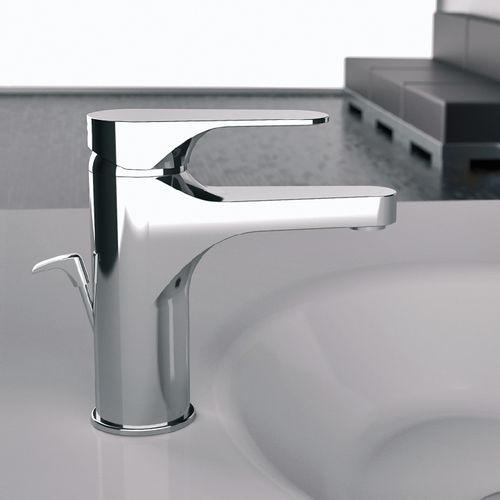 grifo monomando para lavabo / de metal cromado / de latón cromado / de baño