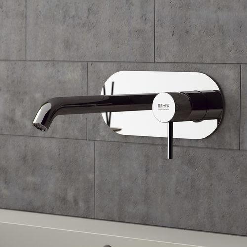 grifo monomando para lavabo / encastrable / de latón cromado / de baño
