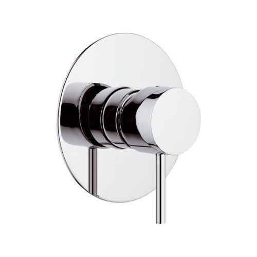 grifo monomando para ducha / encastrable / de latón cromado / de baño