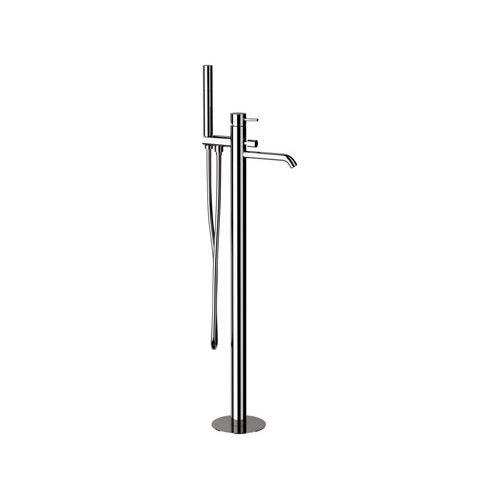 grifo monomando para bañera / para suelo / de latón cromado / de baño