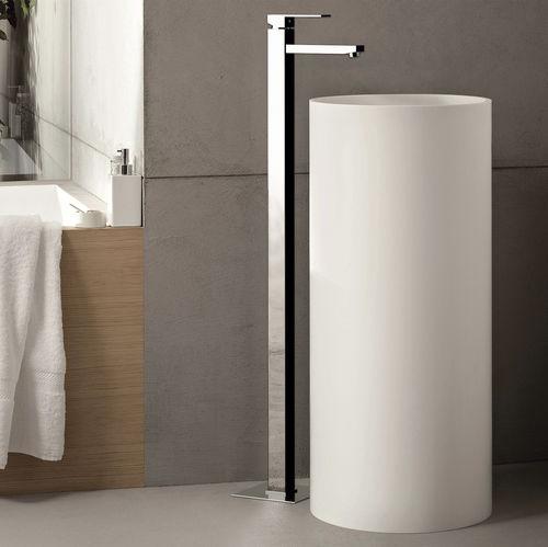 grifo monomando para lavabo / para suelo / de latón cromado / de baño