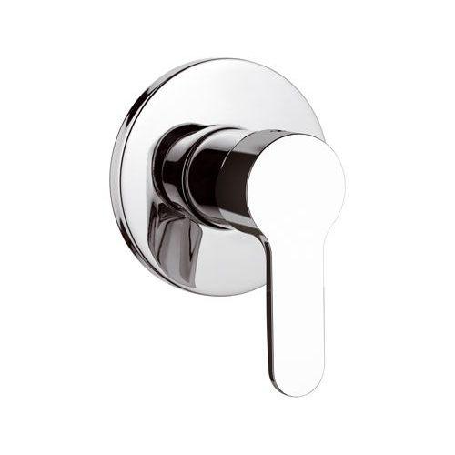 grifo monomando para ducha / de pared / encastrable / de metal cromado