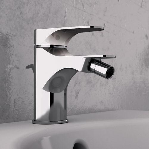 grifo monomando para bidé / de metal cromado / de baño / con 1 orificio