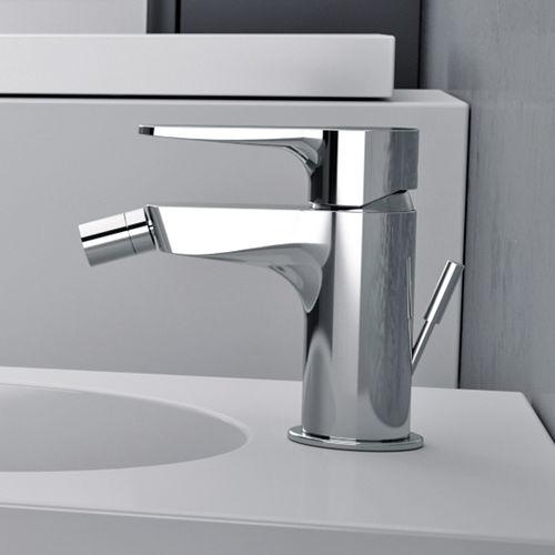 grifo monomando para bidé / de metal cromado / de latón cromado / de baño
