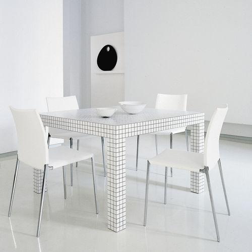 mesa de diseño pop / de plástico / de material laminado / rectangular