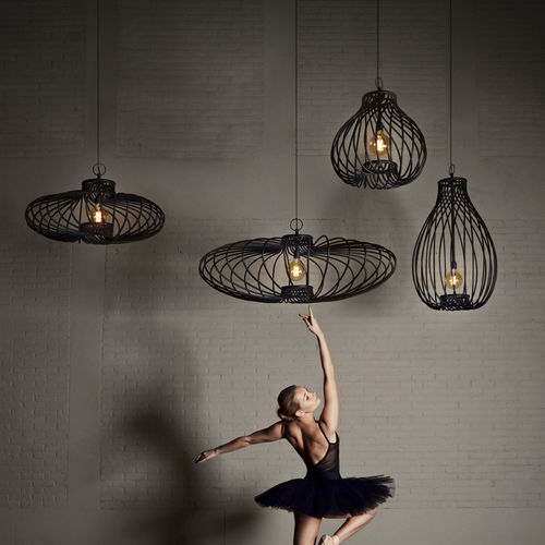 lámpara suspendida / moderna / de acero con revestimiento en polvo / hecha a mano