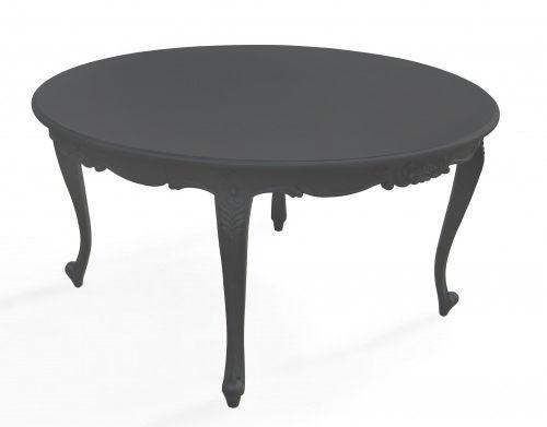 mesa de diseño nuevo barroco / de elastómero / redonda / de exterior
