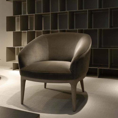 sillón clásico / de tejido / de madera