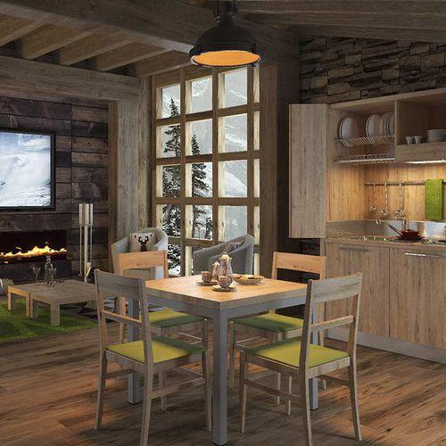 mesa moderna / de madera / cuadrada