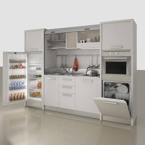 kitchenette con electrodomésticos incluidos / oculta / compacta / para estudio