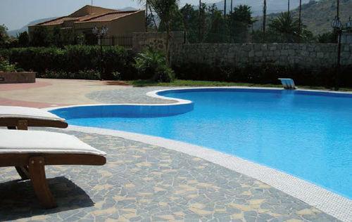 Baldosa de exterior / para playa de piscina / para pavimento / de granito CONSOLARE : IVORY-BLUE CITYTILE'S