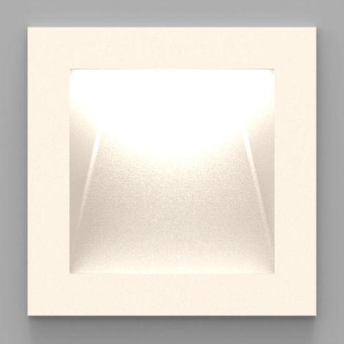 luminaria empotrable de pared / LED / cuadrada / de metal pintado