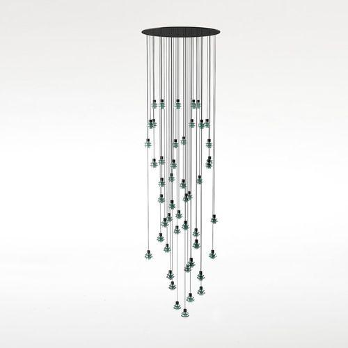 Lámpara suspendida / moderna / de vidrio soplado / de vidrio borosilicato DROP S/48L by Christophe Mathieu  BOVER Barcelona