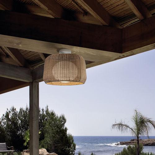 plafón moderno / redondo / de polietileno / LED