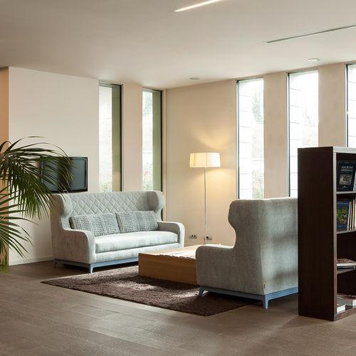 sofá cama / Art Deco / de tejido / para edificio público