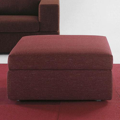 otomana moderna / de tejido / cuadrada / con revestimiento removible
