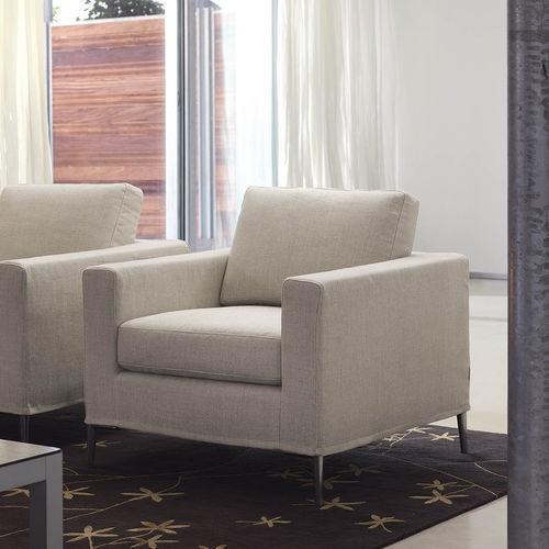 sillón moderno / de tejido / con funda extraíble