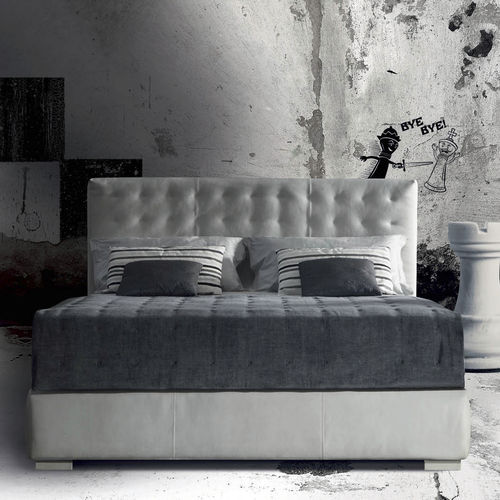 cama estándar / de matrimonio / Art Deco / tapizada
