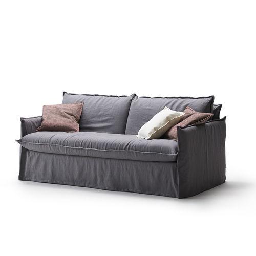 sofá cama / moderno / de tejido / 2 plazas