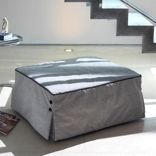 otomana moderna / de tejido / cuadrada / cama