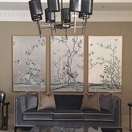 Papeles pintados orientales / de seda / con motivos florales / con motivos de la naturaleza CHINA CLASSIC P24A 04 Misha handmadewallpaper