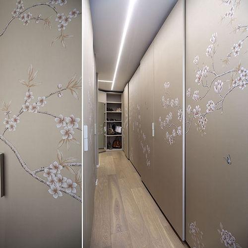 papel pintado moderno / con motivos florales / hecho a mano