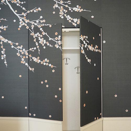 Papeles pintados clásicos / de seda / chinoiserie / hechos a mano JAPANESE BLOSSOM Misha handmadewallpaper