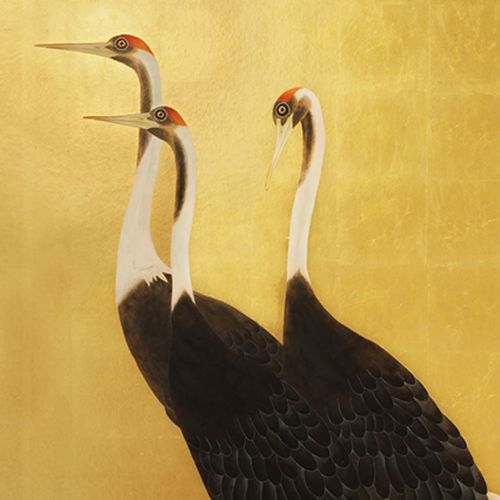 papel pintado moderno / de seda / con motivos animales / hecho a mano