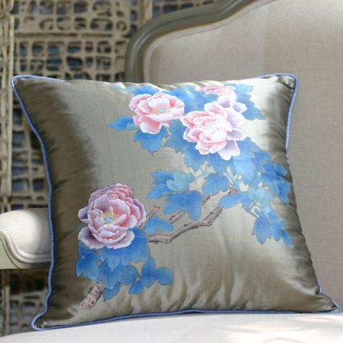 Tela de tapicería / de flores / de seda Dupioni PEONIES Misha handmadewallpaper