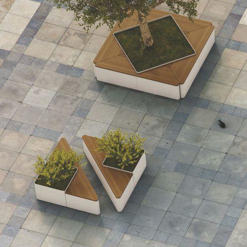 jardinera de acero / triangular / modular / moderna