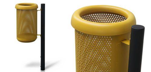 cubo de basura público / de acero inoxidable / de acero galvanizado / de reciclaje