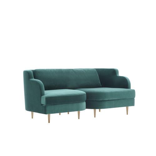 sofá clásico / de tejido / para edificio público / con reposabrazos