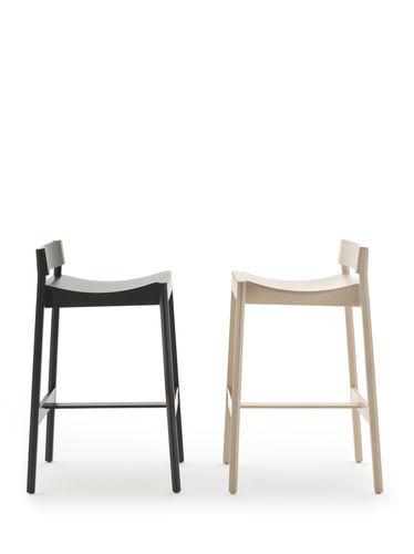 silla de bar moderna / de madera / profesional