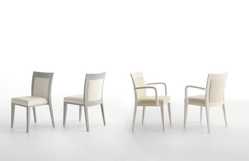 silla moderna / con reposabrazos / de madera / profesional