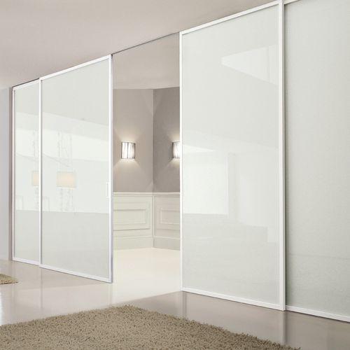 tabique corredero / de vidrio / para uso residencial