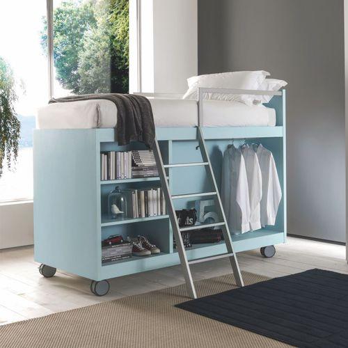 cama alta / individual / moderna / para niño