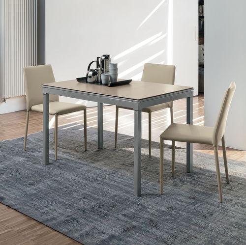 Mesa de comedor moderna / de MDF / de vidrio templado / de metal pintado PERIGEO 115 Target Point New