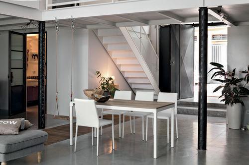 Mesa de comedor moderna / de vidrio / de material laminado / de vidrio templado PERIGEO 115 Target Point New