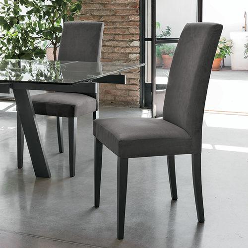 Silla moderna / tapizada / con respaldo alto / de madera LUGANO Target Point New